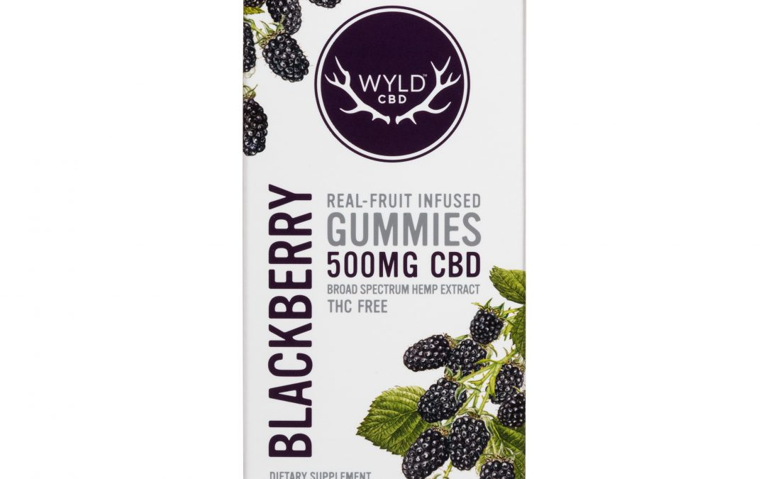 Wyld Blackberry 500mg Edible CBD Gummies